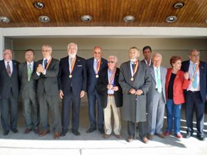 Los galardonados con la Medalla de la Hispanidad.