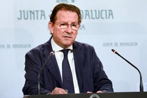 Emilio de Llera, consejero de Justicia e Interior, en una reciente comparecencia.
