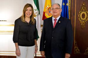 Susana Díaz y Mario Isea.