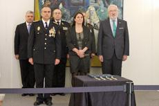 Rodríguez y De Grandes entregaron las medallas a los funcionarios argentinos.