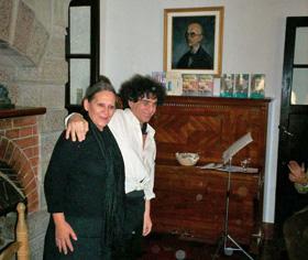 José Luis Thomas y Norma Zagaglia durante su actuación en el Museo Manuel de Falla.