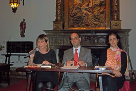 Hernando, D' Aloia y Calvo en un momento de la conferencia.