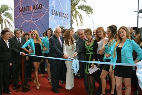 Nava Castro (4ª por dcha.), en la inauguración de Termatalia en Argentina.