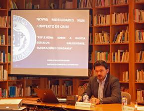 Intervención de Antonio Rodríguez Miranda en el seminario del Consello da Cultura Galega.