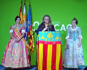 Intervención de Mariela García, presidenta de la Asociación Comunidad Valenciana de Uruguay.