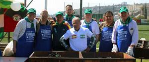 El equipo de los sacrificados parrilleros Waldo Báez, Pedro Baya, Carlos Godoy, Osvaldo Báez, Julio Ávila, Jorge Mella, Luis Roca y Gastón Centeno Pozo.