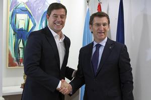 El líder de la oposición, José Ramón Gómez Besteiro, y el presidente de la Xunta.