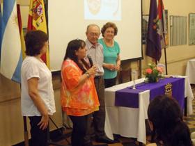 Los familiares de Caloca de la Hera agradecieron a las autoridades de Casa de Palencia por el homenaje.