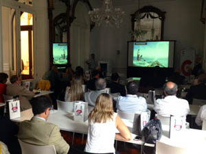 Reunión de trabajo con los operadores turísticos más importantes de Uruguay que se desarrolló en la Embajada de España en Montevideo.