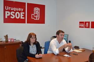 Acto del PSOE en Montevideo.