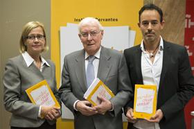 Pilar Cortés, Víctor García de la Concha y Mateo Coronado. Fotografía: Instituto Cervantes (Juanjo del Río).