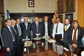 Acto de firma del convenio.