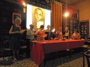 Un momento del recital poético dedicado a Miguel Hernández.