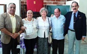 Bruno Javier Machado, Olivia América Cano Castro, Carmen Almodóvar Muñoz, Alfredo Martín Fadragas y Ángel Pérez Herrero.