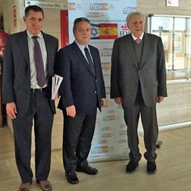 Alfredo Prada (centro) clausuró el lunes 24 de noviembre el III Seminario Permanente de la Cátedra Universitaria España-Israel de la Universidad Rey Juan Carlos.