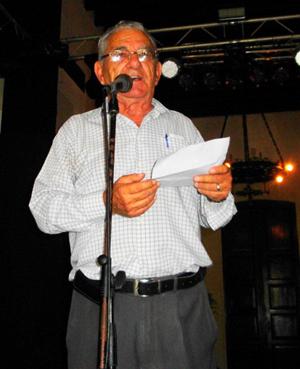 Manuel Vallejo tuvo a su cargo las palabras de bienvenida.