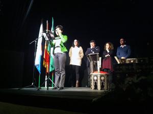 Intervención de la delegada de la Junta, Candela Mora, ante el resto de autoridades