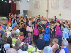 Una de las actuaciones en el festejo del Cecaba.