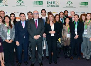 La presidenta de la Junta, Susana Díaz asistió a la inauguración de IMEX-Andalucía en Sevilla.