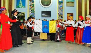 Gran final de la gala artística del 13º Festival de Tradiciones Canarias.