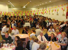 Celebración de la 'Peña Castilla y León'.