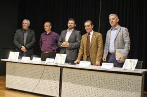 Koki, segundo por la izquierda, y a su izquierda Antonio Rodríguez Miranda, Nelson Santos y Valentín García.