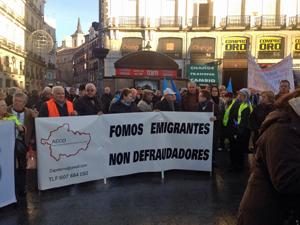La mayor parte de los manifestantes fueron gallegos y andaluces.