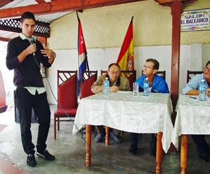 Intervención del joven Ronald García de la Federación Asturiana.