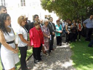 Importantes autoridades españolas, argentinas y familiares de las víctimas asistieron al acto.