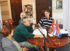 El presidente de la entidad, Renato García Egusquiza, se dirige a los asistentes.