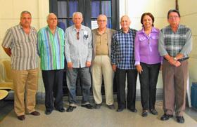 La directiva de la FSEC con Julio Santamarina en el centro.