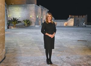 La presidenta de la Junta de Andalucía, Susana Díaz, en su Mensaje de Fin de Año en la Alcazaba de Almería.