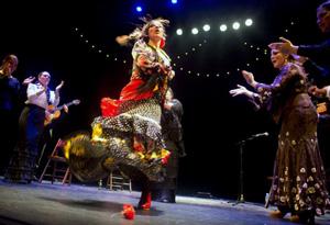 Un momento del espectáculo 'Flamencas de Extremadura'. foto jean Louis Duzert