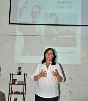 La presidenta del Patronato, Ana Lorenzo, durante el homenaje a Castelao.