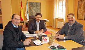 Miranda (en el centro), con Pardal a su derecha y González López a su izquierda.
