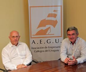 Héctor Álvarez, presidente saliente, y Celestino Duarte, nuevo titular de AEGU.