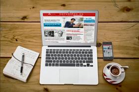 Portada de la página web del Instituto Cervantes, donde se informa sobre los nuevos cursos de AVE Global para estudiar español en tabletas y teléfonos inteligentes (smartphones).