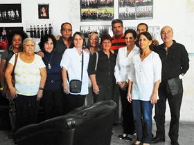 Nueva directiva de Unión Baleira. El cuarto por la izda. es Julio A. Gallo.