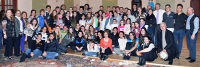 Clausura del taller de mayor afluencia en 2014, el de percusión impartido en la segunda quincena de noviembre en México D.F.