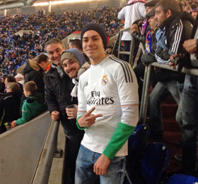 En el estadio del Schalke.