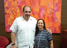Alejandra Vilalta con José María Benarroch.