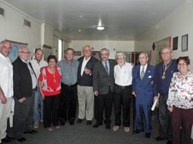 La actual directiva de la Feceve con su presidente, Félix Barbero (quinto por la derecha).