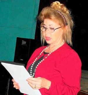 Intervención de Perla C. Díaz Durán, presidenta de la Casa Asturiana de Matanzas.