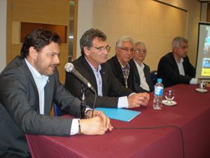 Miranda, Avruj, Sangiao, Panteón y López Dobarro durante la presentación.