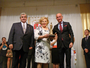Jorge Bodega, Mª del Carmen Cheda y Santiago Camba.