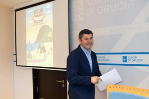 El director xeral de Xuventude e Voluntariado, Ovidio Rodeiro, presentó el programa.