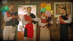Actuación de la agrupación folclórica gallega 'Miña Terra'.