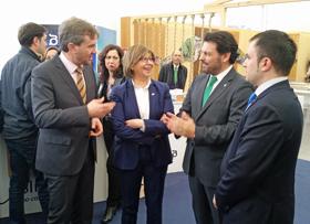 Javier Lacalle, Rosa Quintana, Antonio Rodríguez, y el presidente del Centro Galego de Burgos, Ángel Ferreiro.