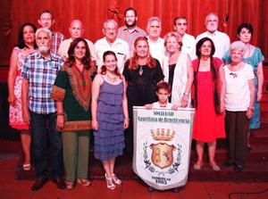 Directivos y personalidades invitadas a la celebración del 130° aniversario de la Beneficencia Castellana.