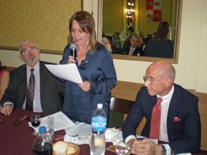 Hernando durante la lectura de su emotivo último discurso como presidente de la Federación.